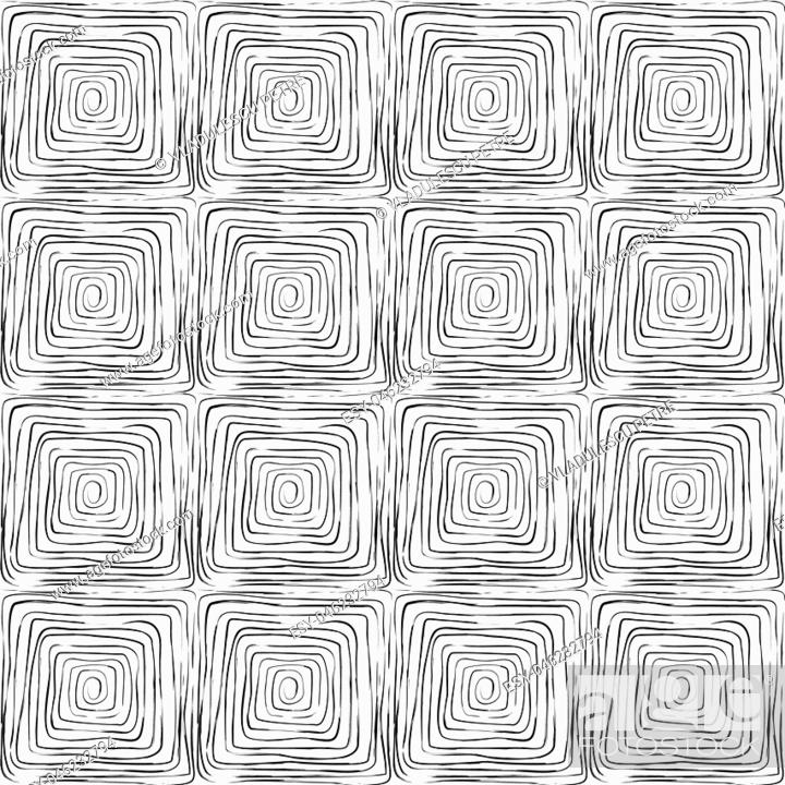 Stock Vector: pattern with black geometric forms.