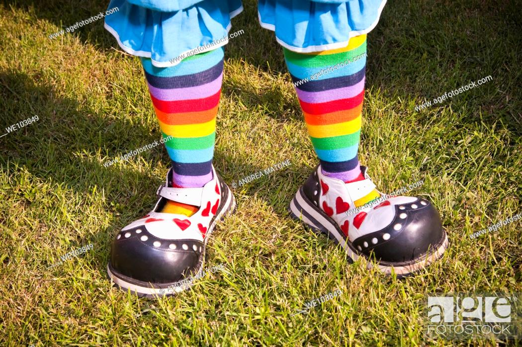 Stock Photo: Clown shoes.
