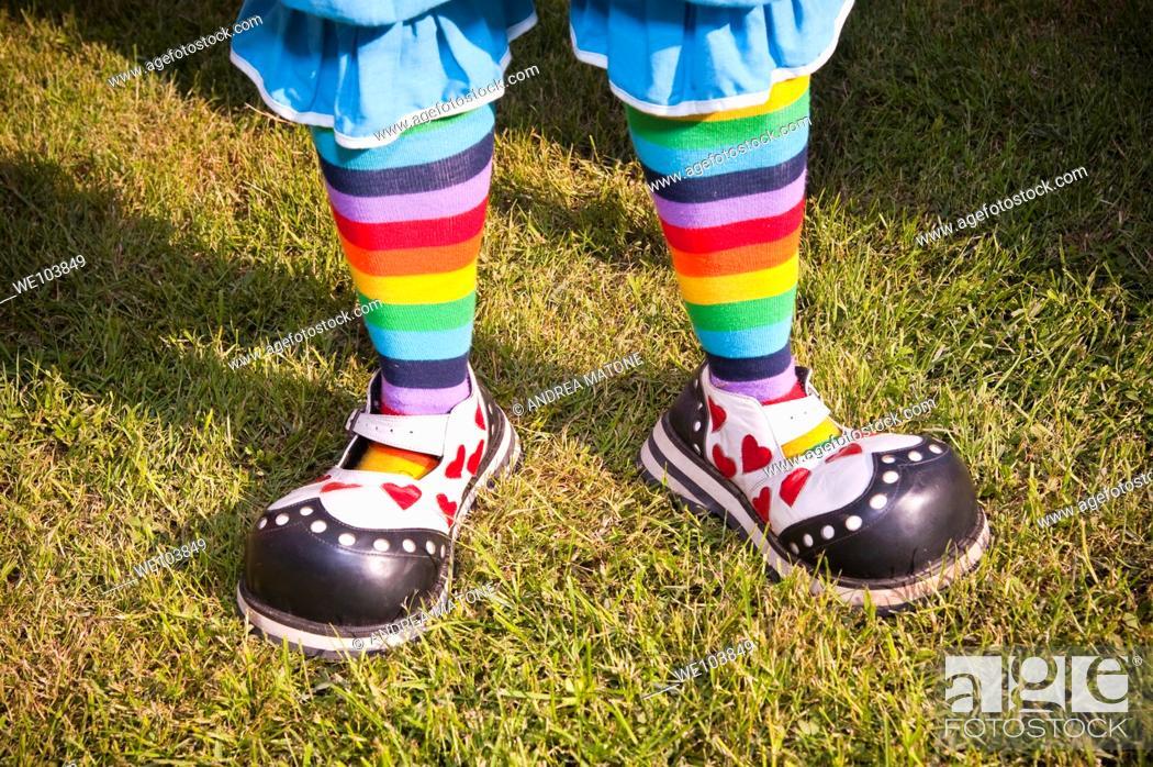 Stock Photo: Clown shoes.