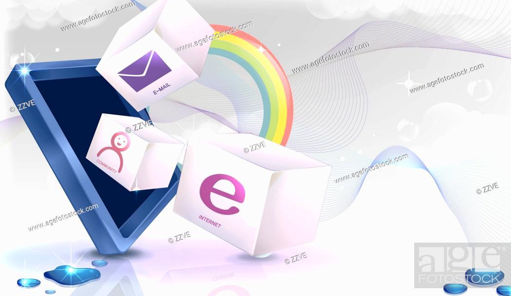 Stock Photo: Internet symbol vector.