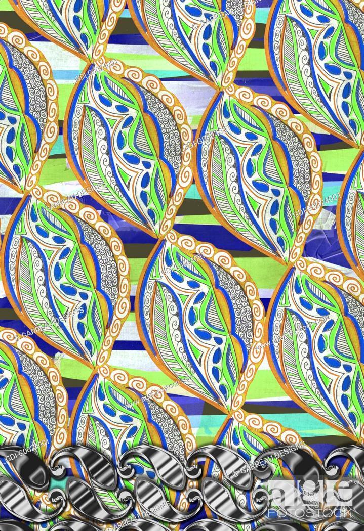 Imagen: Colorful repeating design.