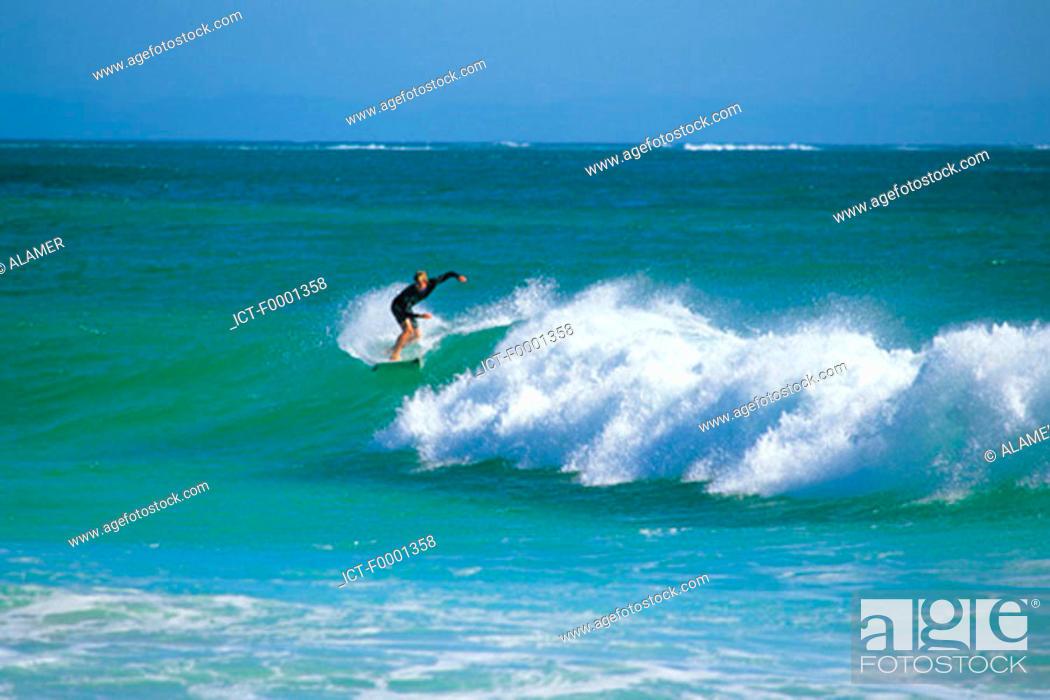 Stock Photo: Western Australia, surfer.