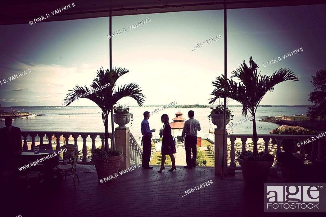 Stock Photo: Wedding attendees.