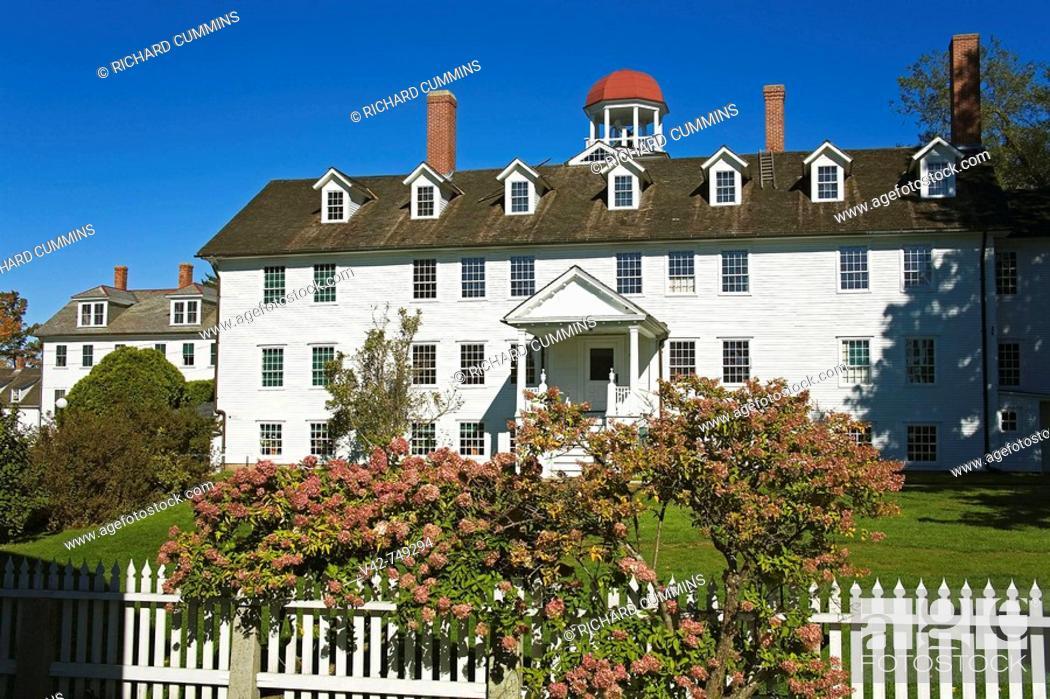 Stock Photo: Canterbury Shaker Village, New Hampshire, New England, USA.