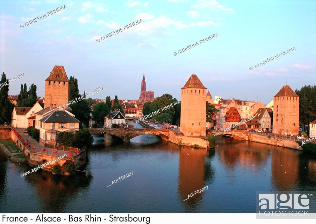 Stock Photo: France - Alsace - Bas Rhin - Strasbourg.