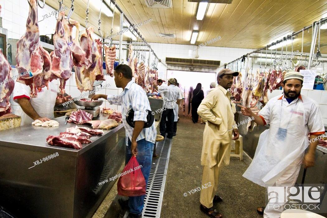 Meat Market, Deira Dubai, United Arab Emirates, Stock Photo, Picture
