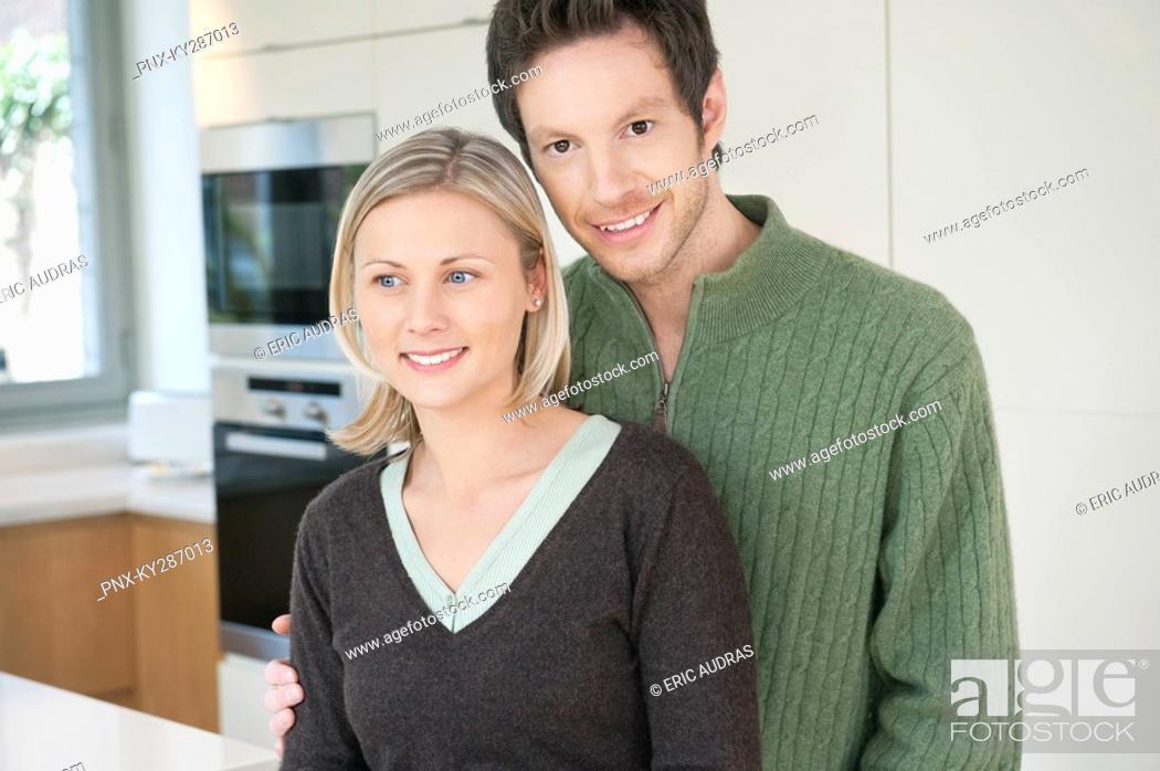 Stock Photo: Couple smiling.