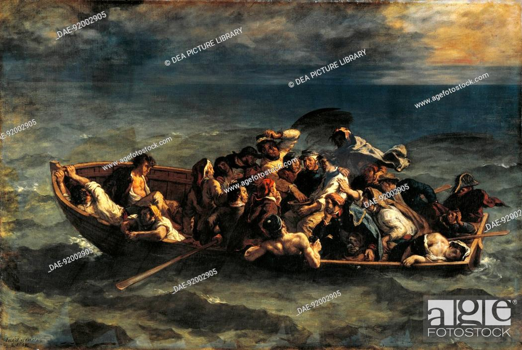 Stock Photo: The Shipwreck of Don Juan, by Eugene Delacroix (1798-1863).  Paris, Musée Du Louvre.