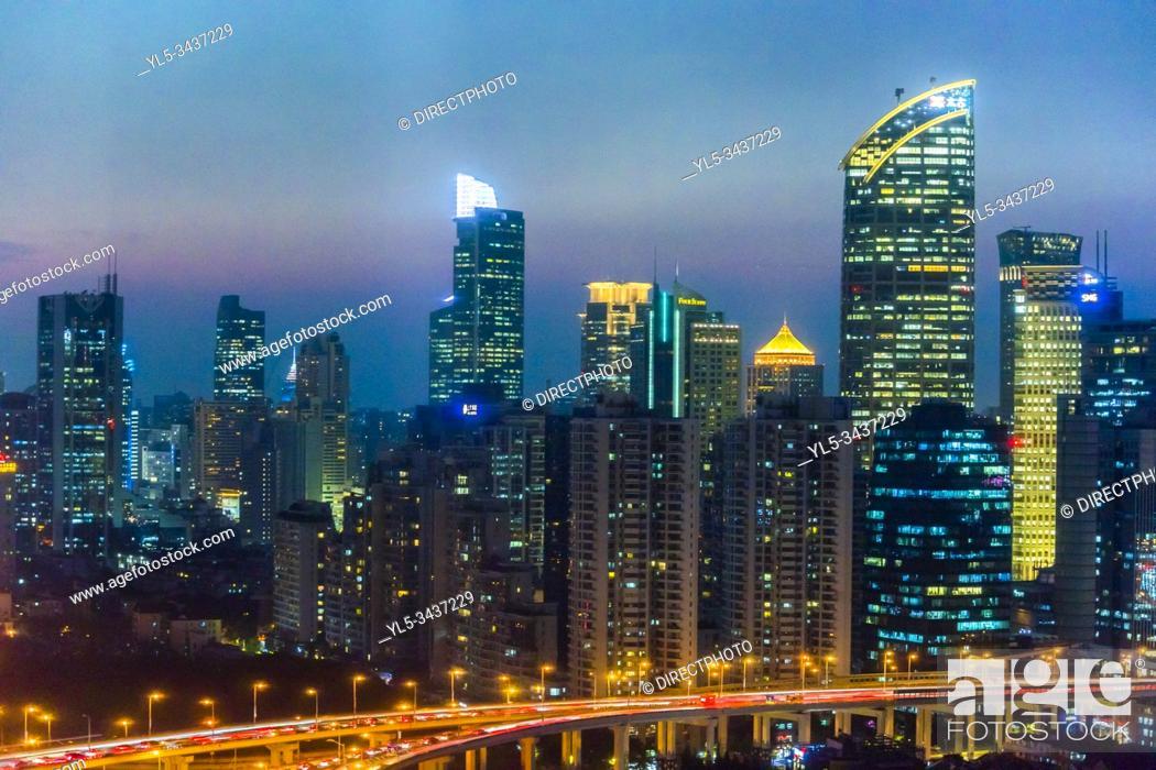Stock Photo: Shanghai, China, shanghai skyline.