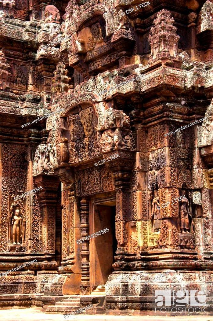 Stock Photo: Temple Banteay Srei.