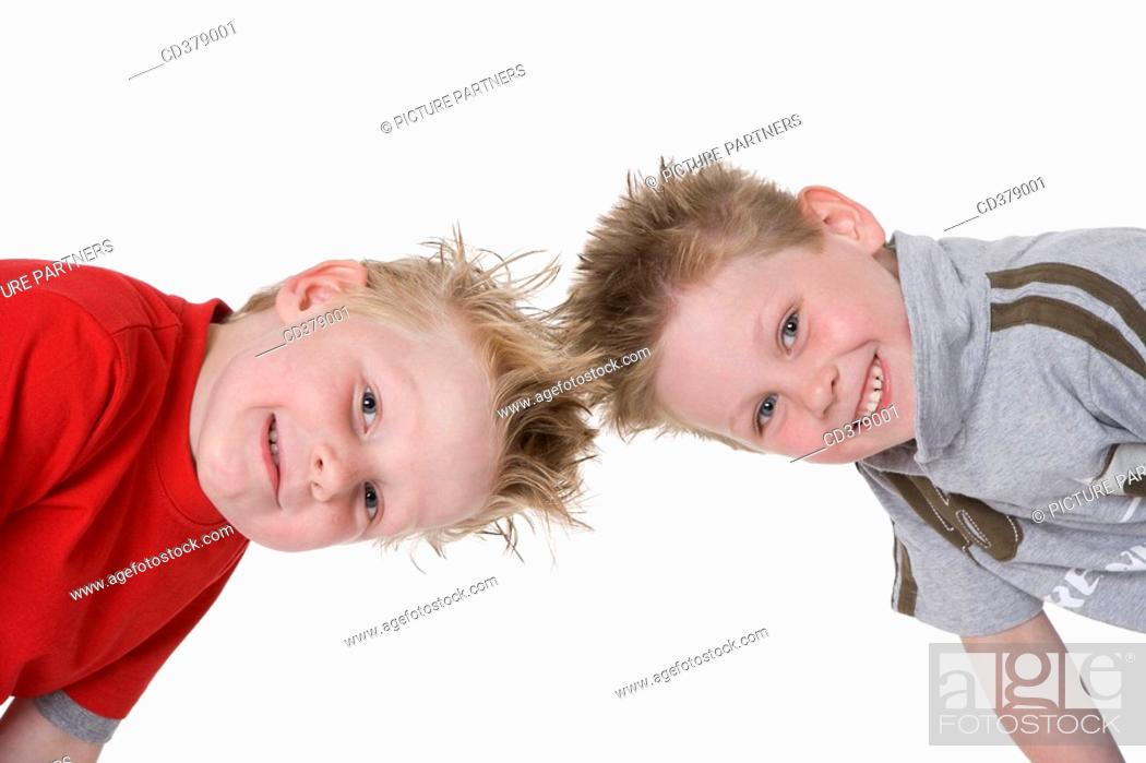 Stock Photo: Portrait of two boys.