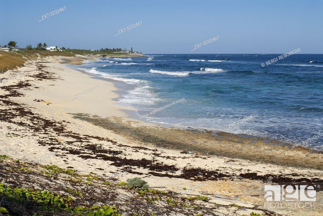 Stock Photo: Hope Town Beach (South Beach). Hope Town, Elbow Cay, Abacos. Bahamas.