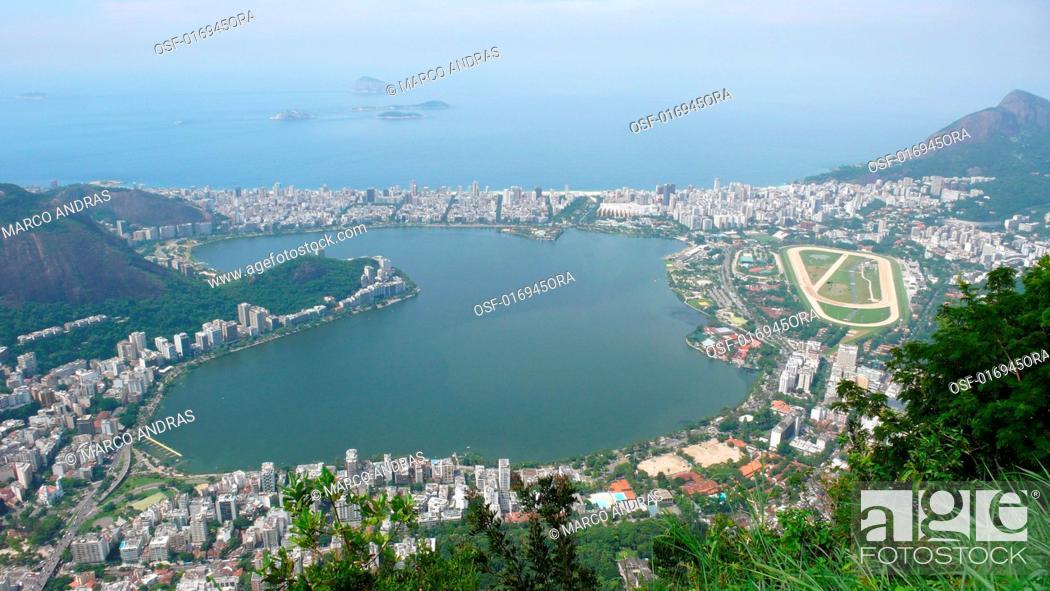 Stock Photo: aerial view rio de janeiro.