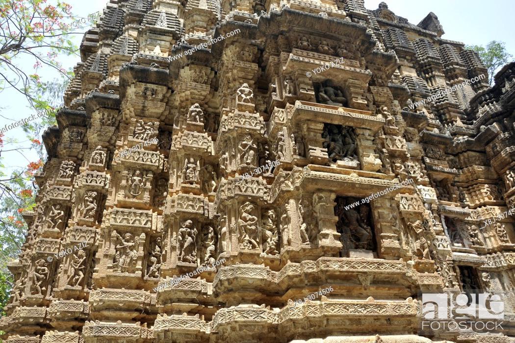 Stock Photo: India, Orissa, Bhoramdeo temple.