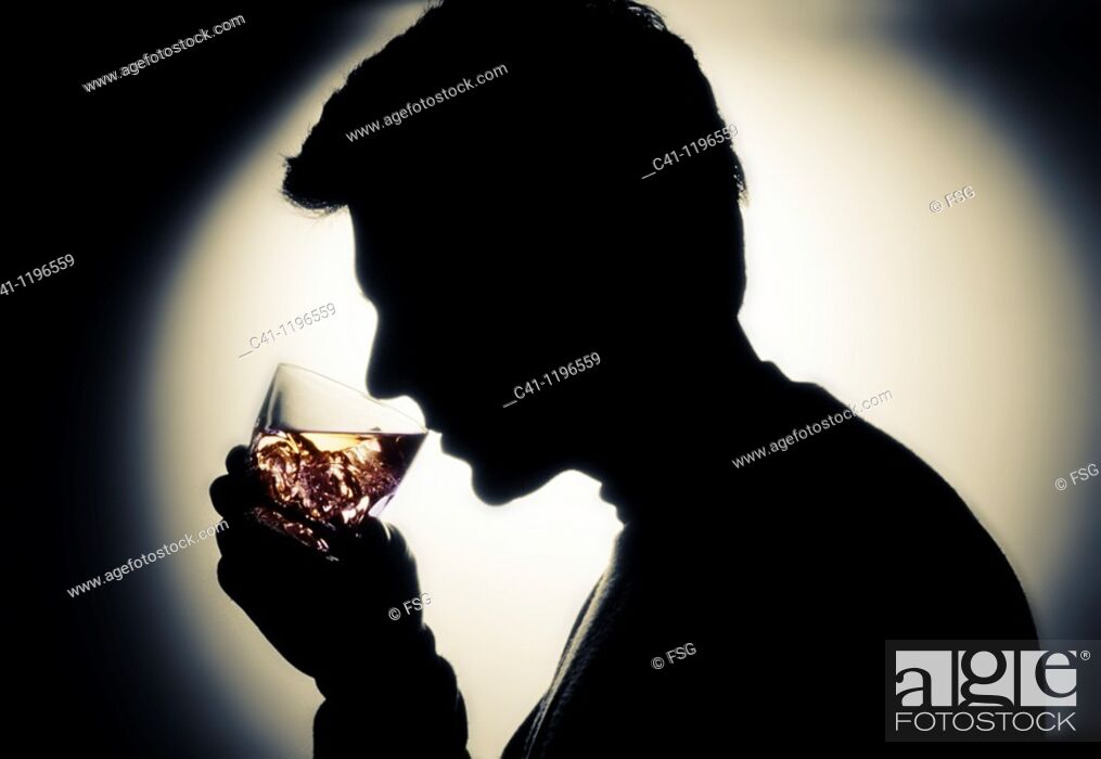 Stock Photo: Man drinking.