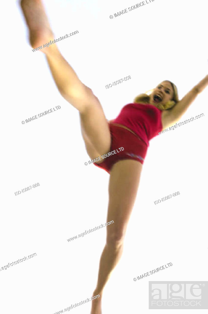 Stock Photo: Girl leaping.