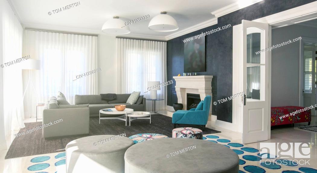 Stock Photo: Home showcase living room.
