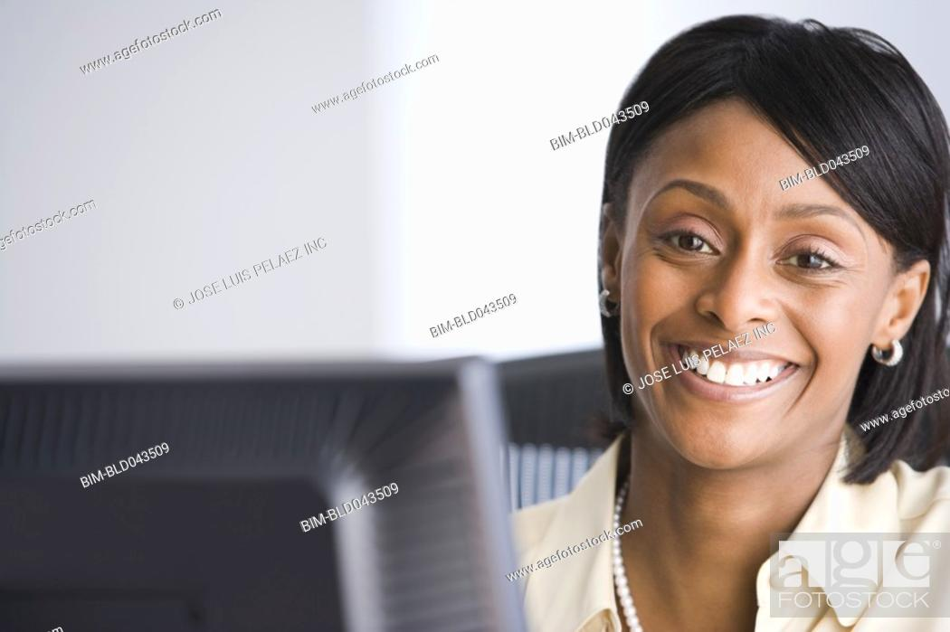 Stock Photo: Portrait of African American businesswoman.