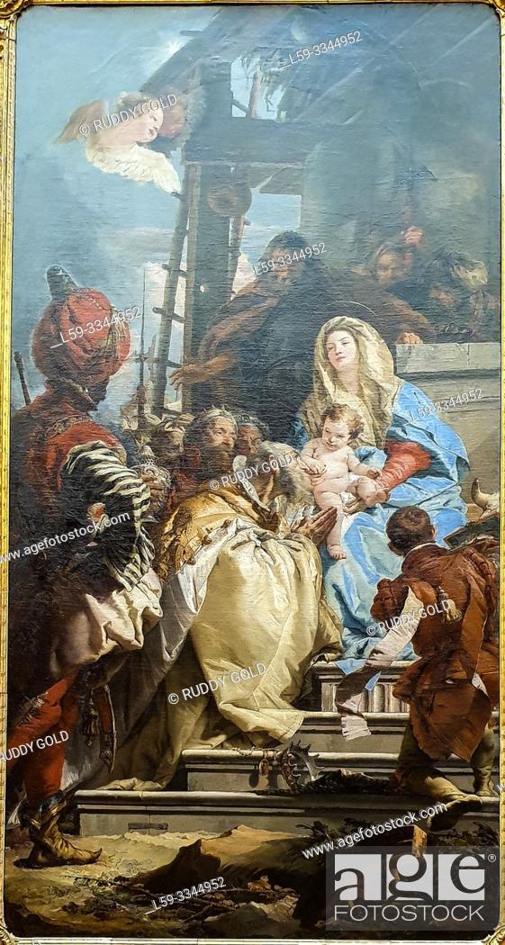 Imagen: 'The Adoration of the Magi', 1753, by Gioavnni Battista Tiepolo (1696-1770).