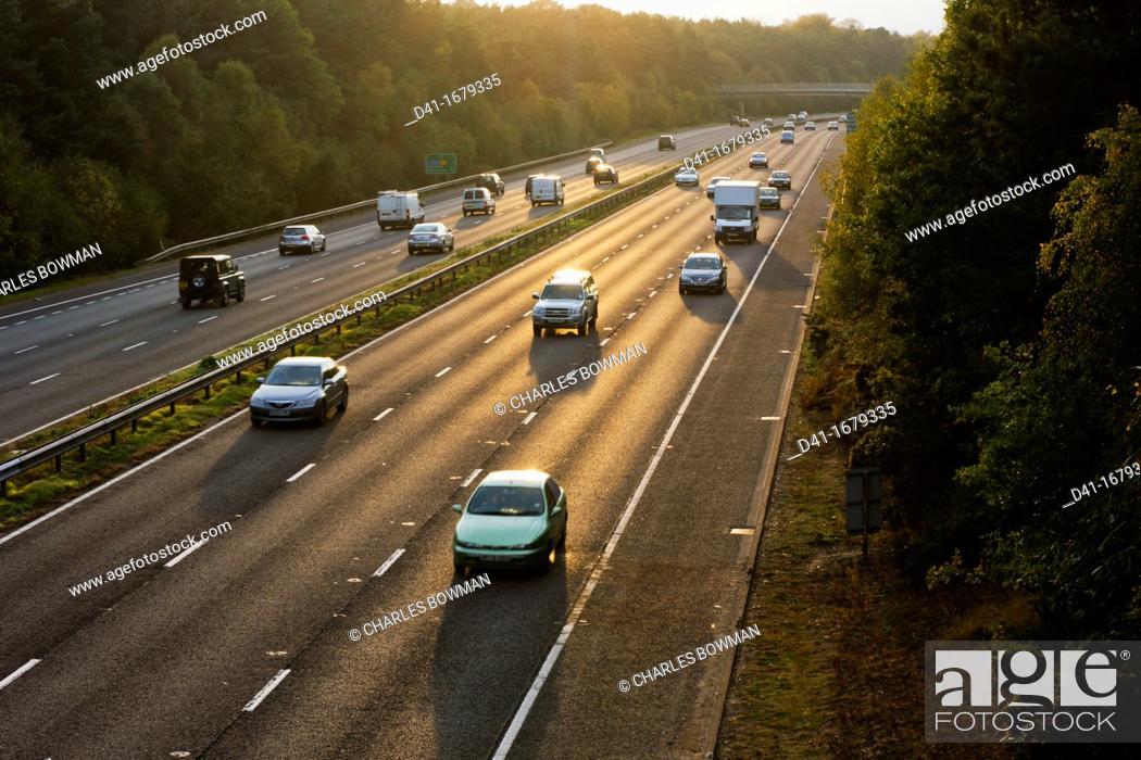Stock Photo: UK, England, Motorway A3 daylight.