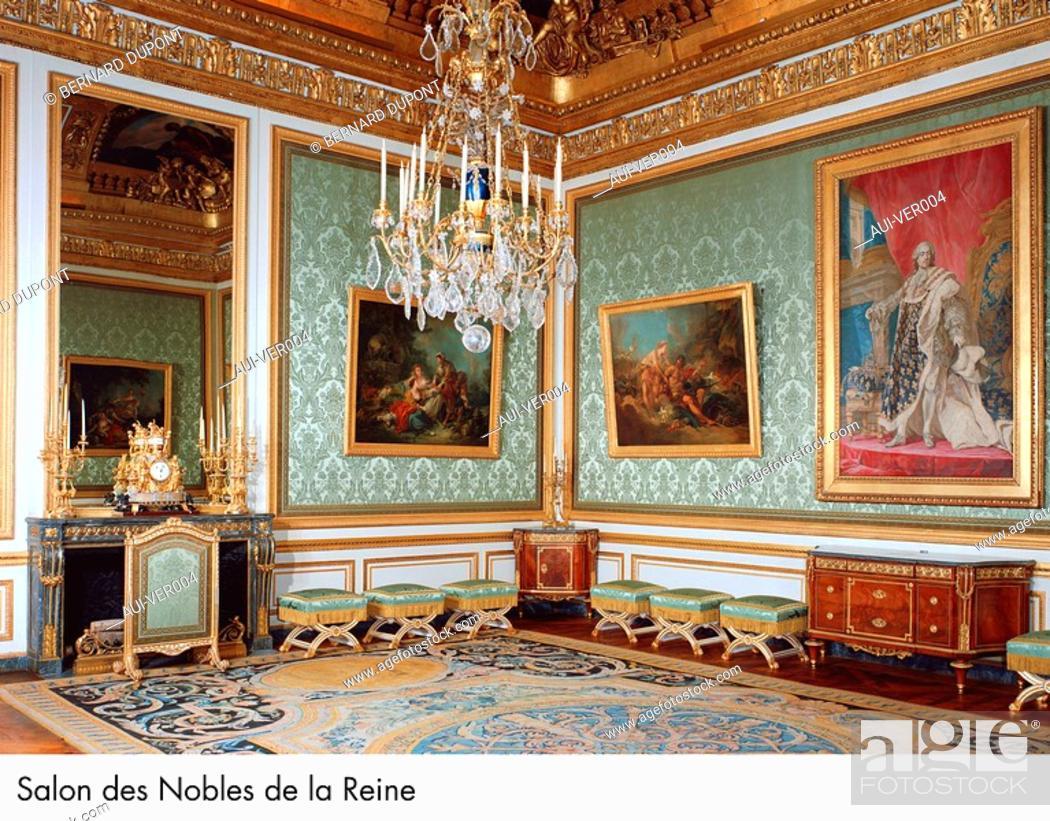 Stock Photo: Palace of Versailles - Salon des Nobles de la Reine.