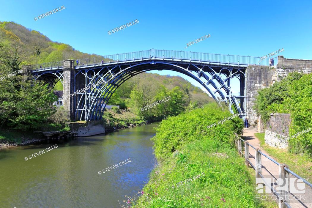 The Famous Iron Bridge Over River Severn At Ironbridge