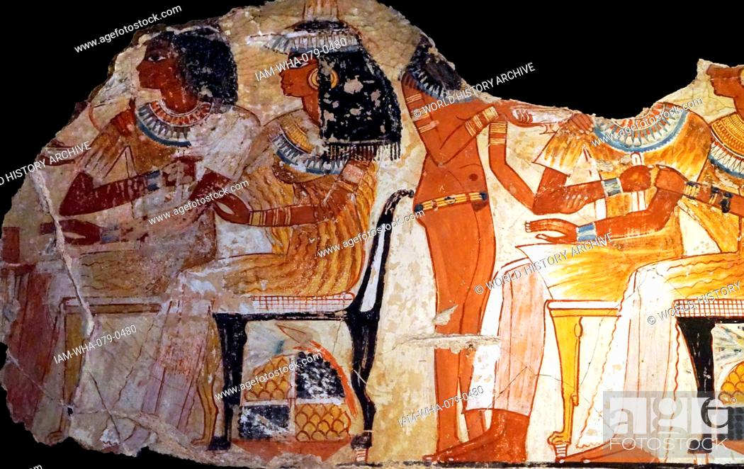 Imagen: Scenes from the Tomb of Nebamun, a middle-ranking official scribe and grain accountant of the New Kingdom. Dated 1700 BC.