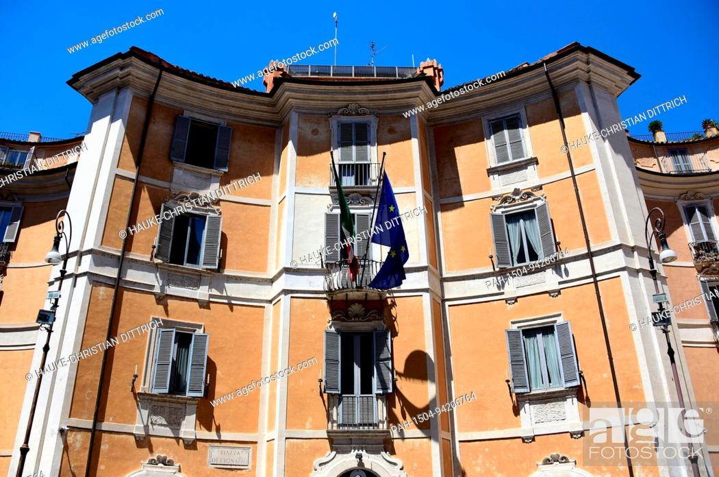 Stock Photo: Administration building of the italian gendarmerie Carabinieri at the Piazza di Sant'Ignazio in Rome (Italy), 18 July 2017. | usage worldwide.