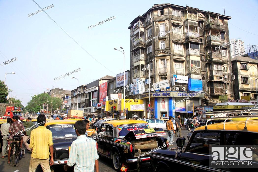 Stock Photo: Scene on Maulana Shaukatali road ; Grant road ; Bombay now Mumbai ; Maharashtra ; India.