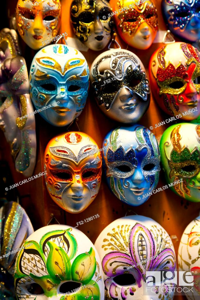 Stock Photo: Masks, Venice, Veneto, Italy.