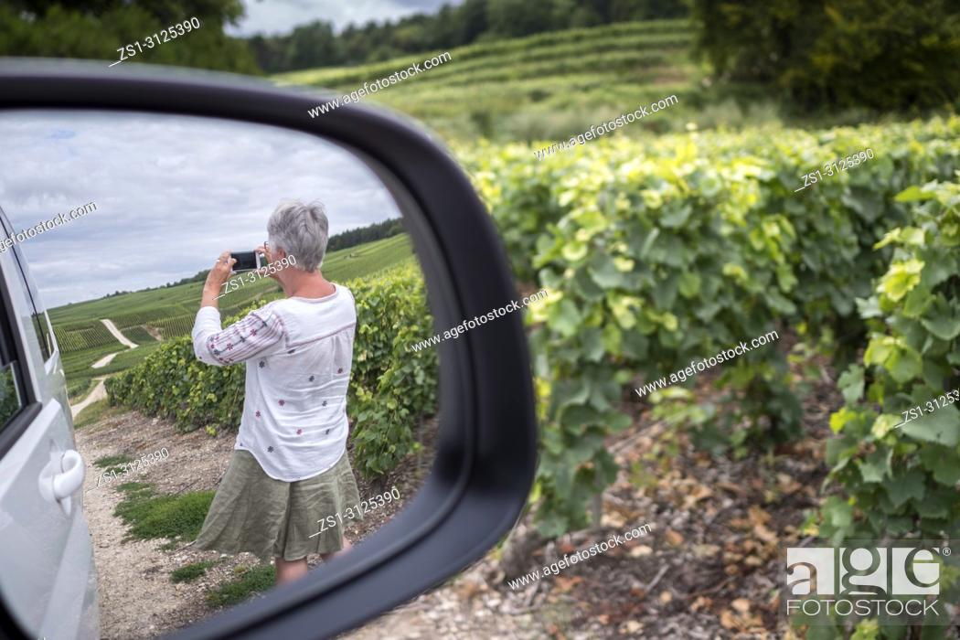 Stock Photo: Taking a photo from the Camper Ville Dommange Reims Marne Grand Est France.
