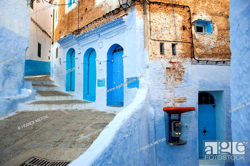Stock Photo: Chefchaouen Old Town ( medina), Morocco.