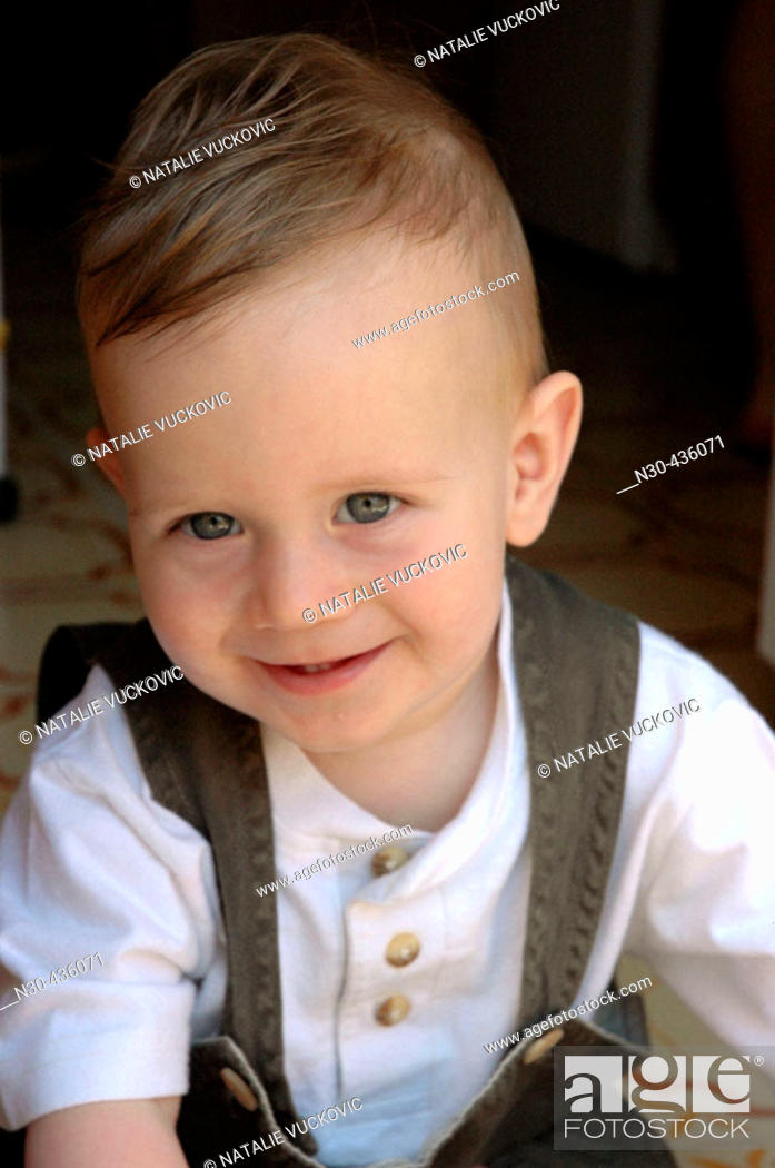 Stock Photo: 1 Year Old Boy Smiling.