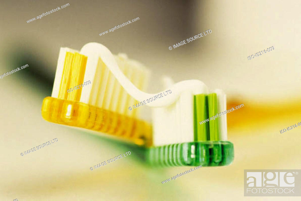 Stock Photo: Toothbrush and toothpaste.
