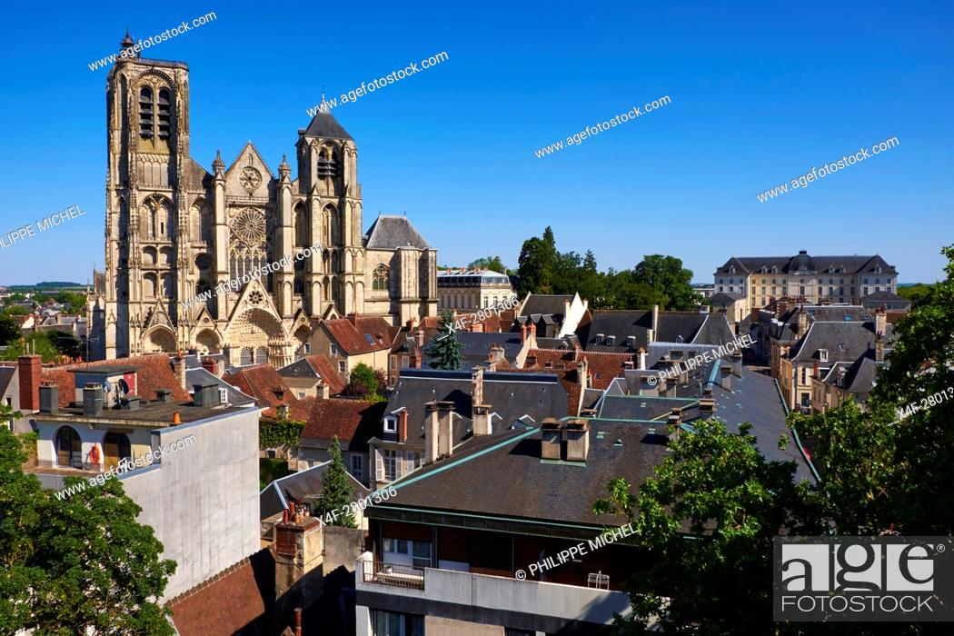 Imagen: France, Cher (18), Bourges, St Etienne cathedral, UNESCO world heritage.