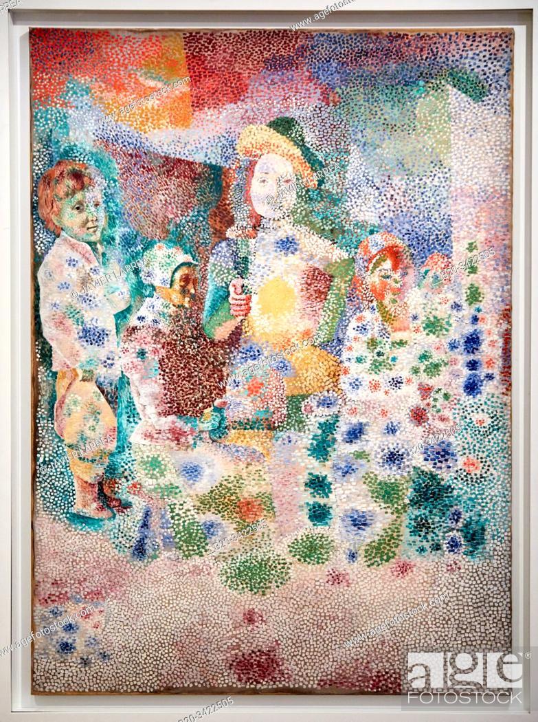 """Stock Photo: """"""""""""Le Retour du baptême d'après Le Nain"""""""", 1917, Pablo Picasso, 1881-1973, Musée de l'Armée, Paris, France."""