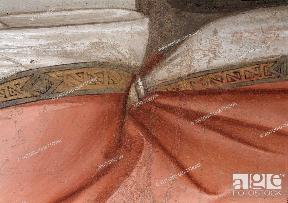 Imagen: Sylvester Closing the Jaws of a Dragon and Resuscitating two Wizards (San Silvestro chiude le fauci a un drago e resuscita due maghi), by Maso di Banco, 1340.