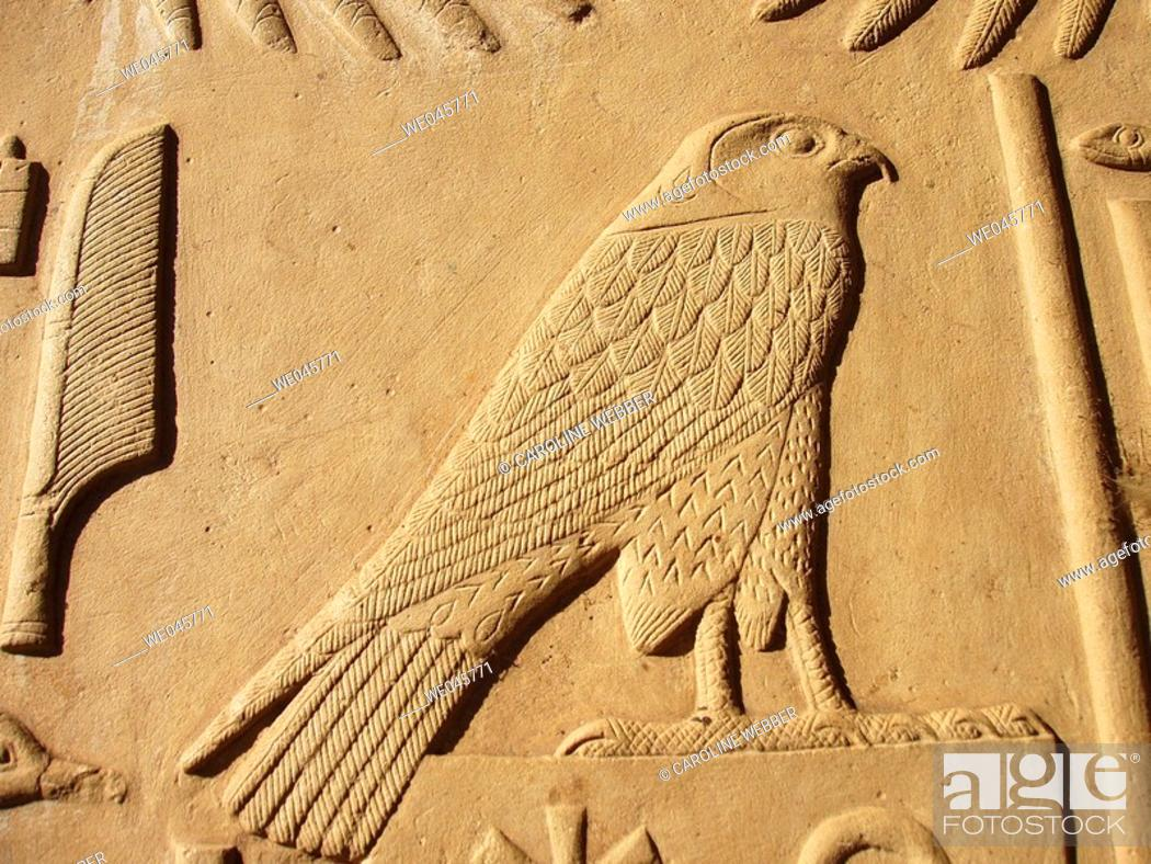 Stock Photo: Horus at Karnak Temple.