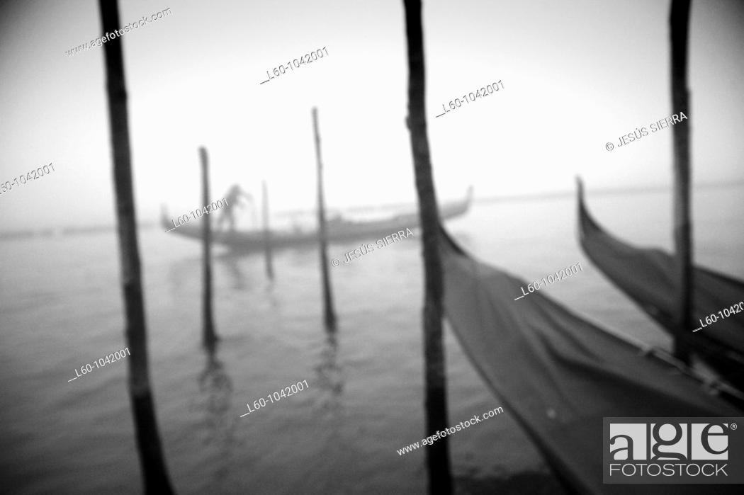 Stock Photo: Gondola in Venice, Italy.