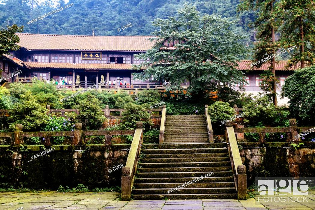 Imagen: Emei Mountain, Sichuan province, China - The Xianfeng Monastery.