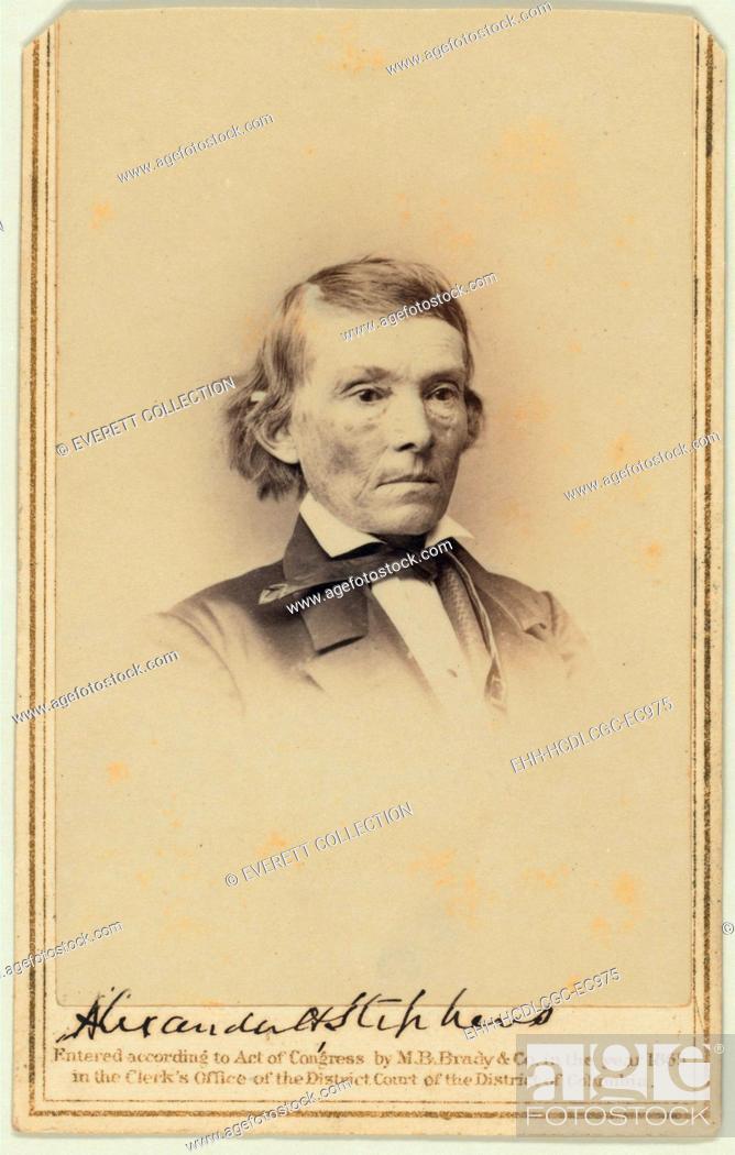 Alexander Hamilton Stephens US Representative For Georgia And Later