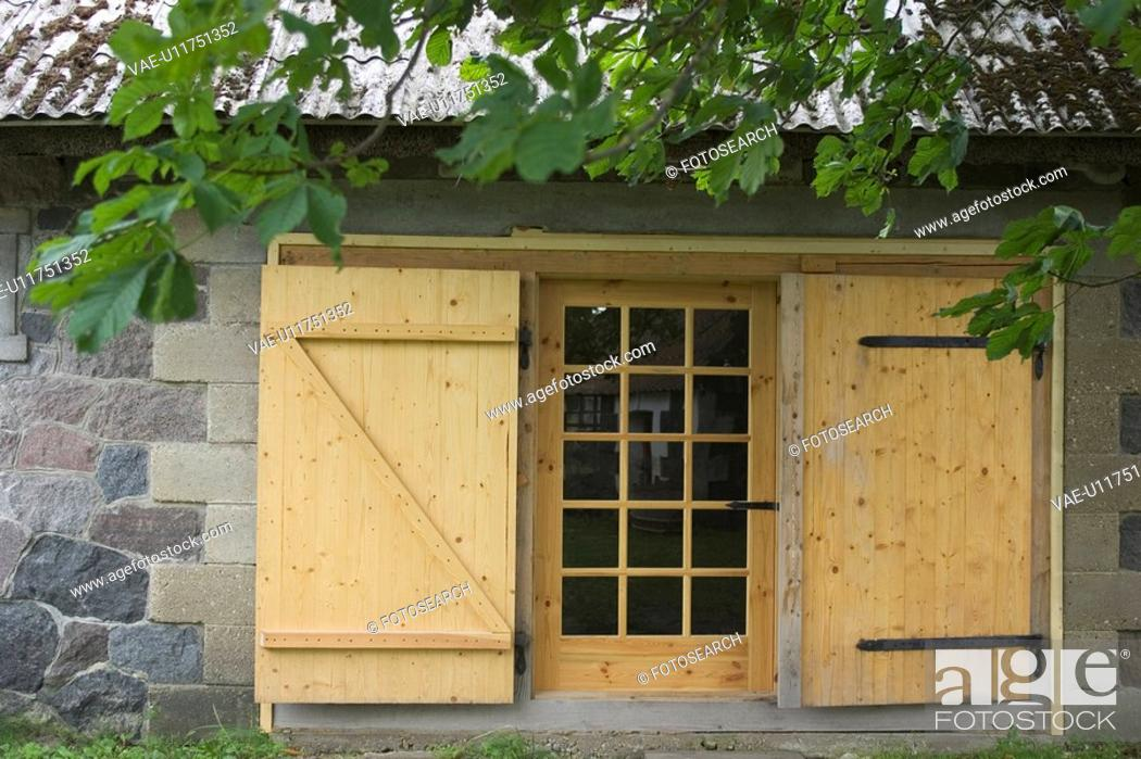 Stock Photo: Building, Building Exterior, Building Structure, Cabin, Close-Up.