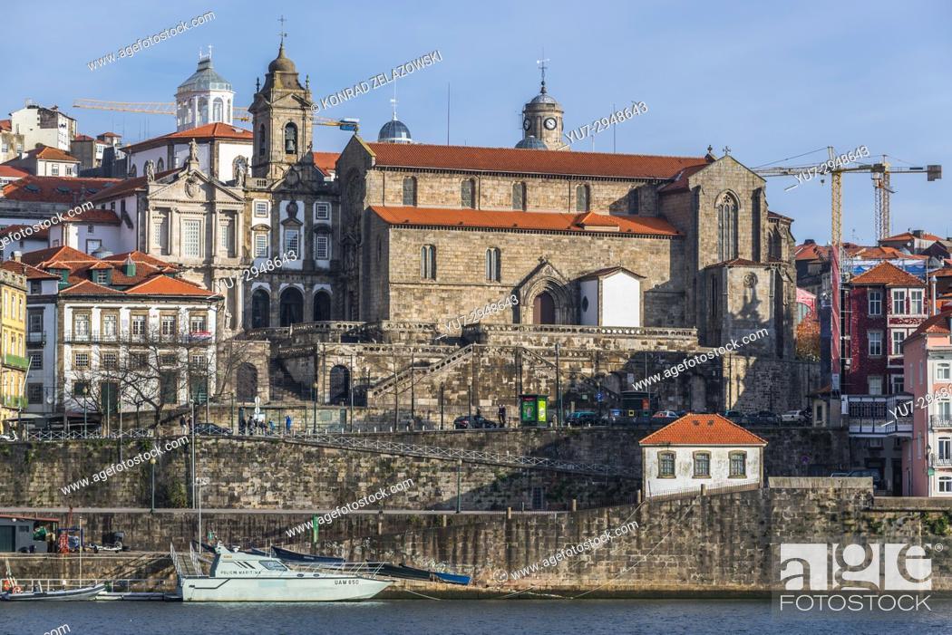 Stock Photo: Church of Saint Francis (Igreja de Sao Francisco) in Porto city, Portugal. View from Vila Nova de Gaia city.