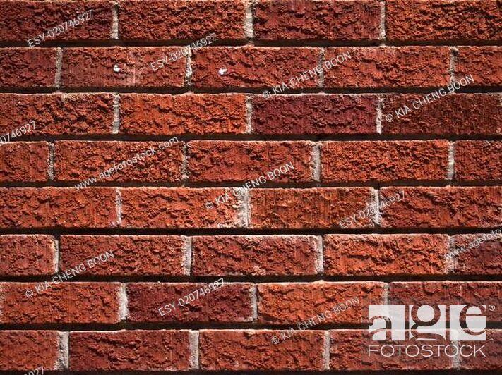 Stock Photo: brick wall background.