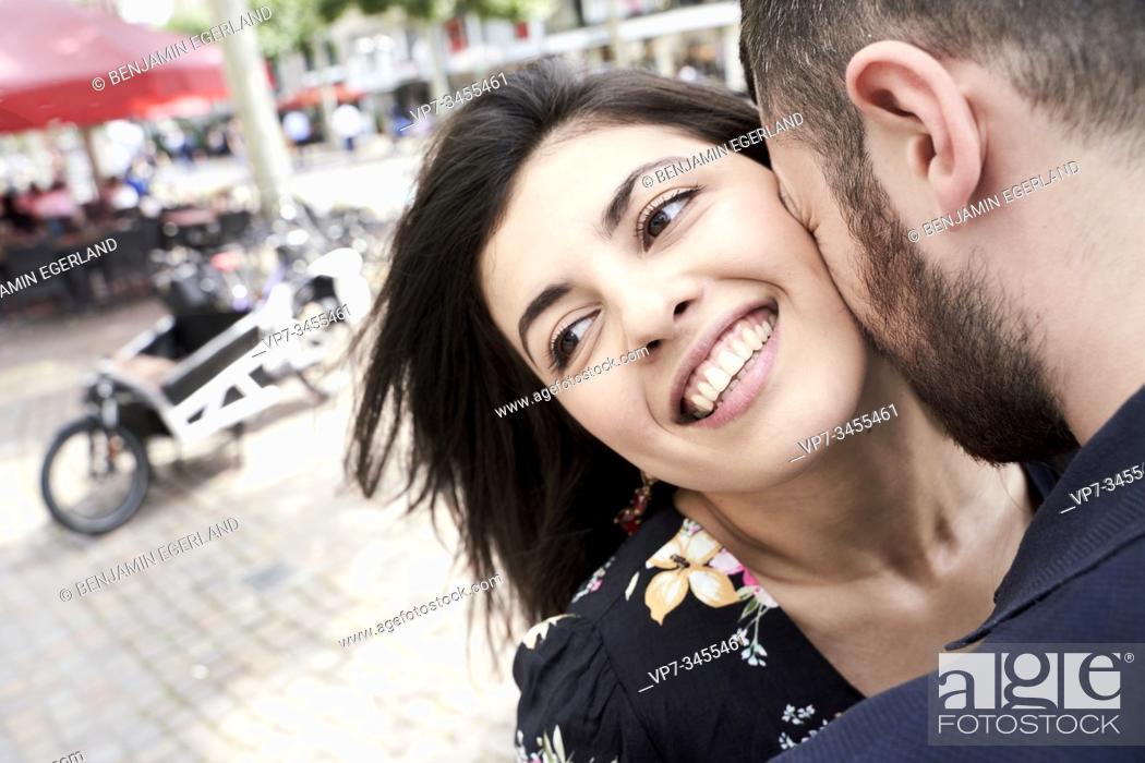 Stock Photo: Young couple in loving attitude. Frankfurt am Main, Germany.