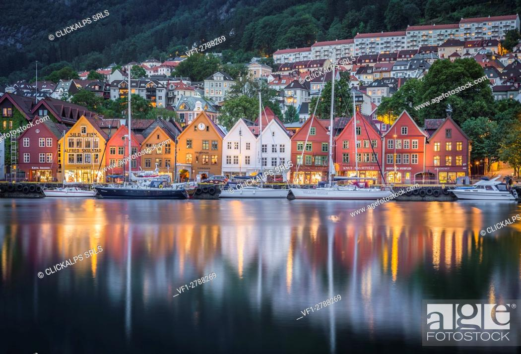 Stock Photo: Bergen artistic quarter, Southern Norway.
