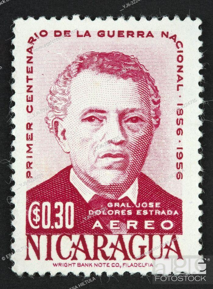 Stock Photo: Nicaraguan postage stamp.
