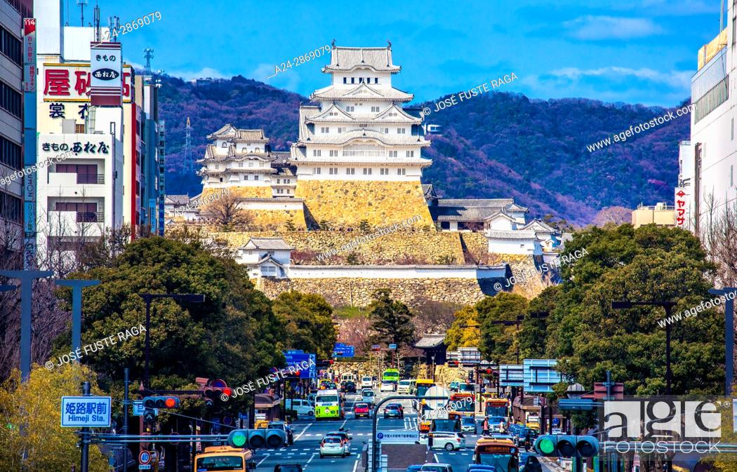 Stock Photo: Japan, Himeji City, Himeji Castle, (W.H.).