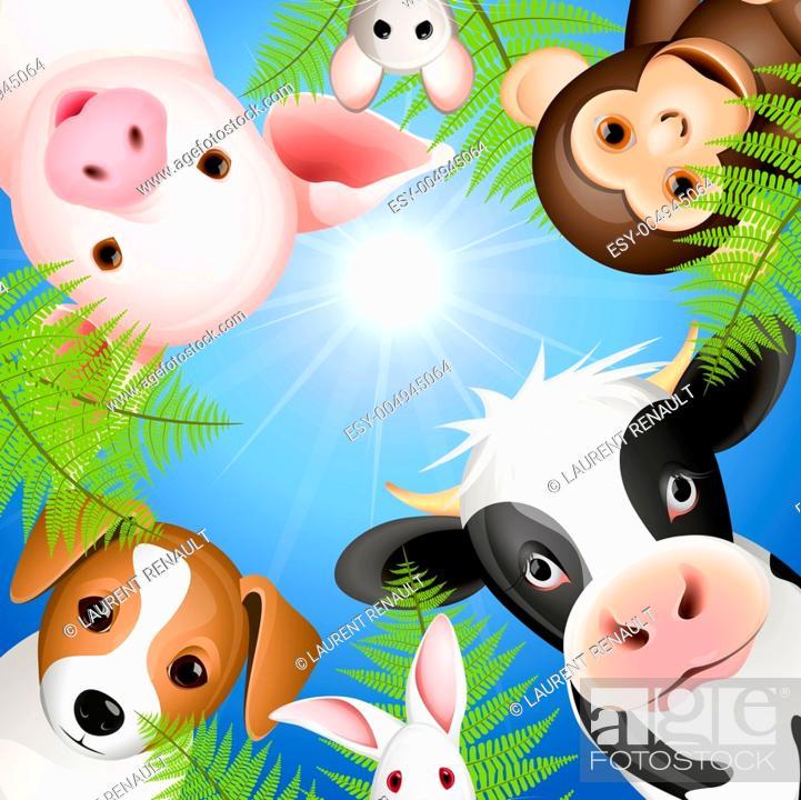 Stock Photo: Curious animals.