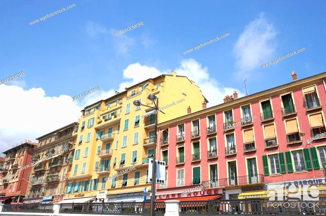 Stock Photo: Building in the Fishing boats dock, Nice, French Riviera, France, Europe.
